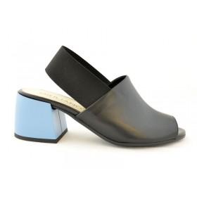 05f4d51c2cf2d Premium buty damskie skórzane licowe na niebieskim obcasie GIULIANO G-2007  ...