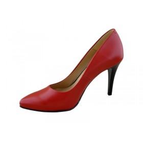 Czółenka damskie skórzane: 1021 czerwony